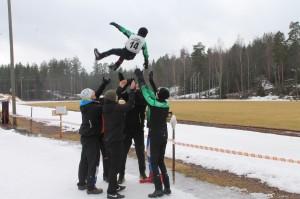 Jannen Iltalenkki Team voitti Anjanlan 24h hiihdon 7.-8.3.2014. Ankkuri, Severi Sakkaran, voittoheitto